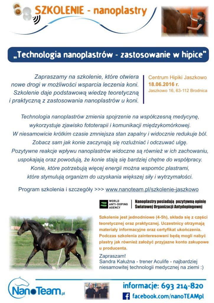 szkolenie nanoplastry lifewave konie
